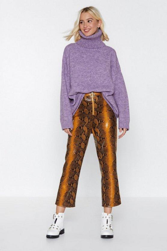 snake-em-wait-high-waisted-pants by nasty-gal