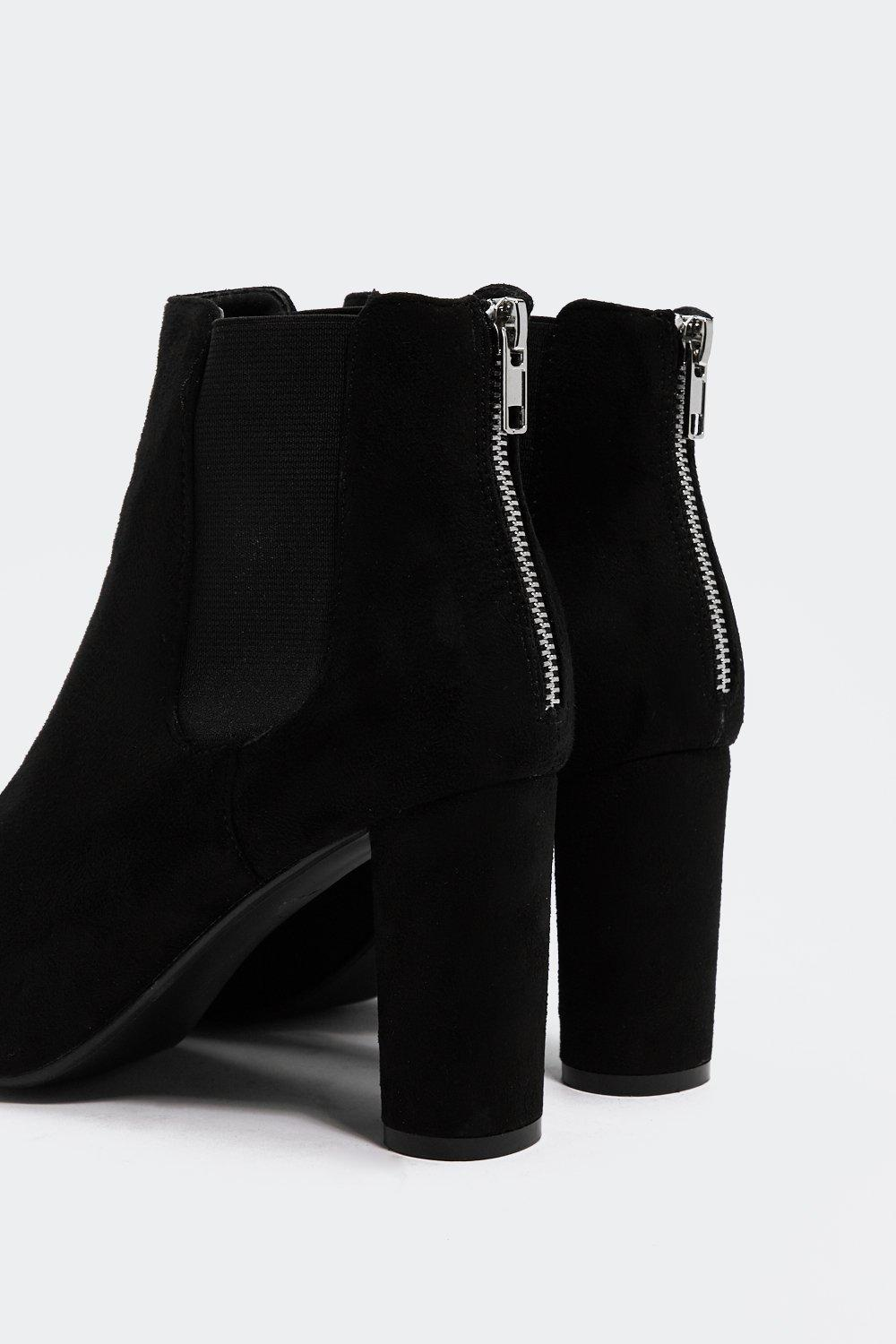 fda30933686 Faux Suede With Me Heeled Boot | Shop Clothes at Nasty Gal!