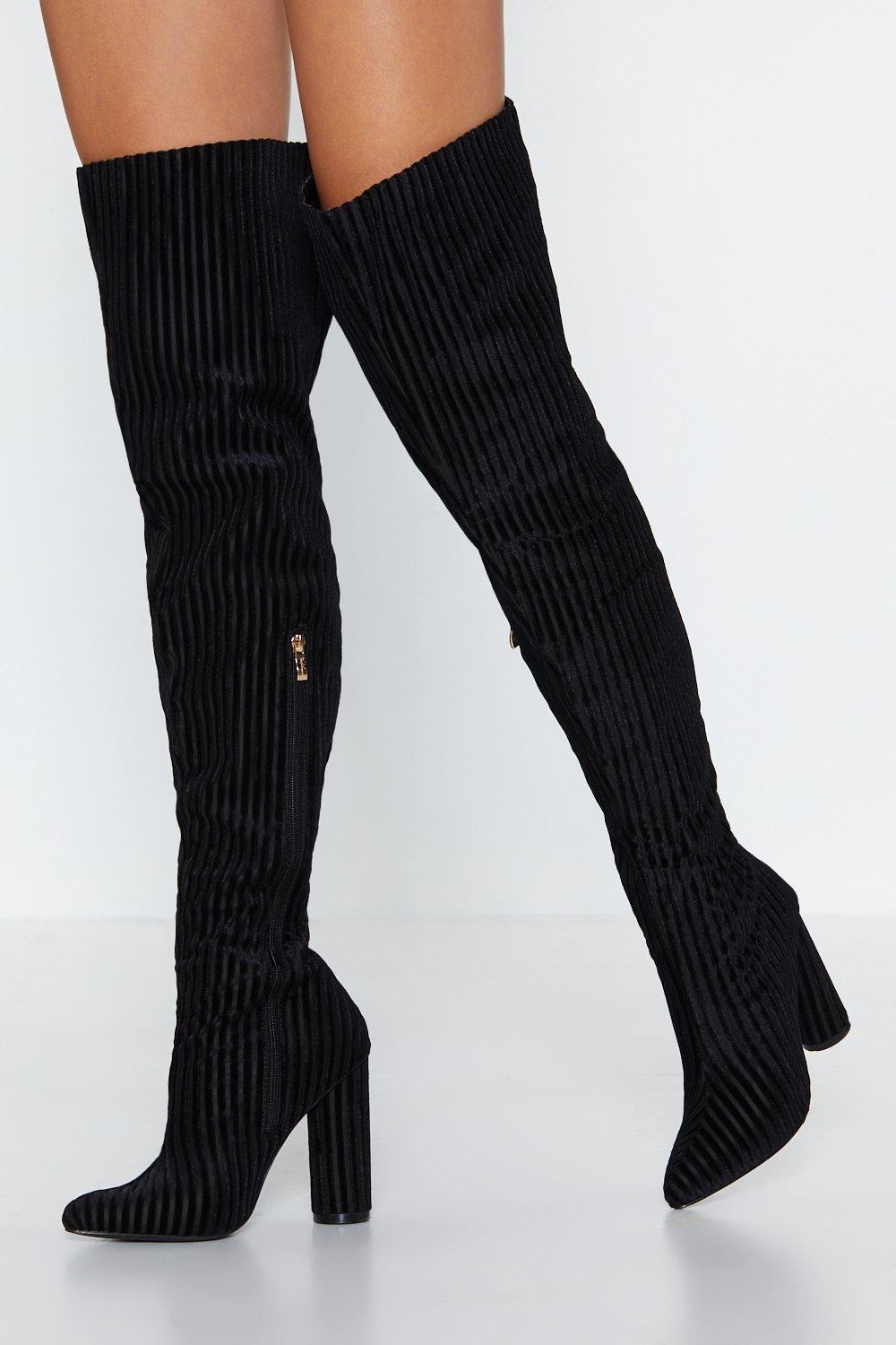 b3973fd80a Ready For the Rib Down Thigh-High Boot | Shop Clothes at Nasty Gal!