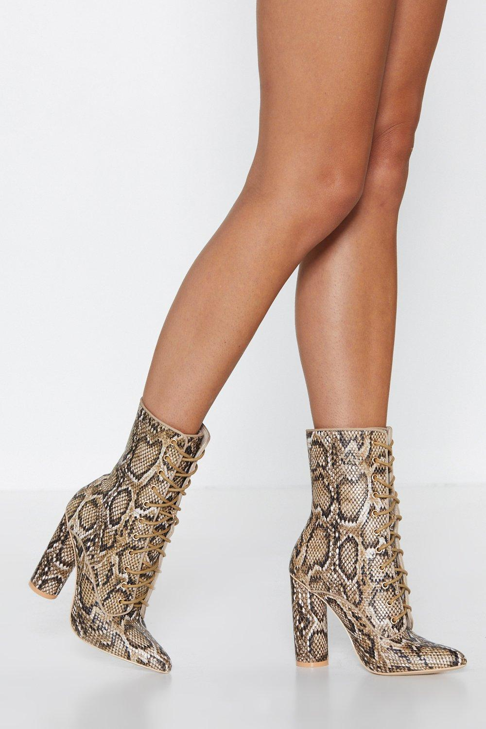 f88c05df770d Snake Your Own Way Heeled Boot | Shop Clothes at Nasty Gal!