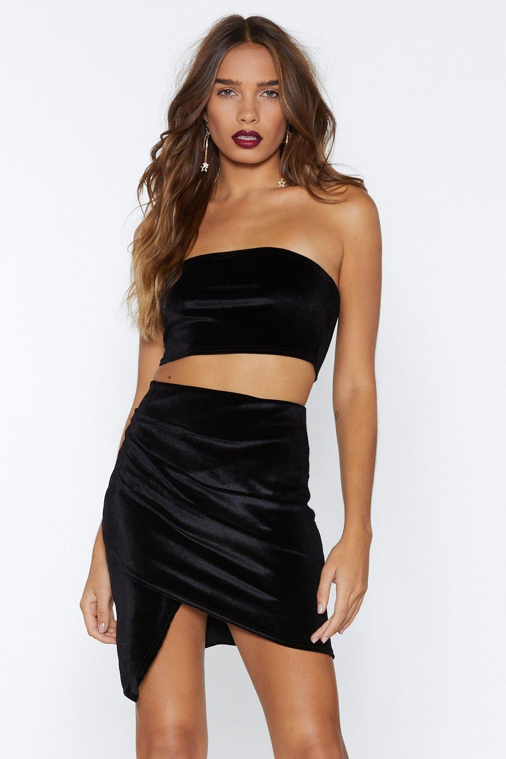 0298196334dbdd In Touch Velvet Crop Top and Skirt Set | Shop Clothes at Nasty Gal!