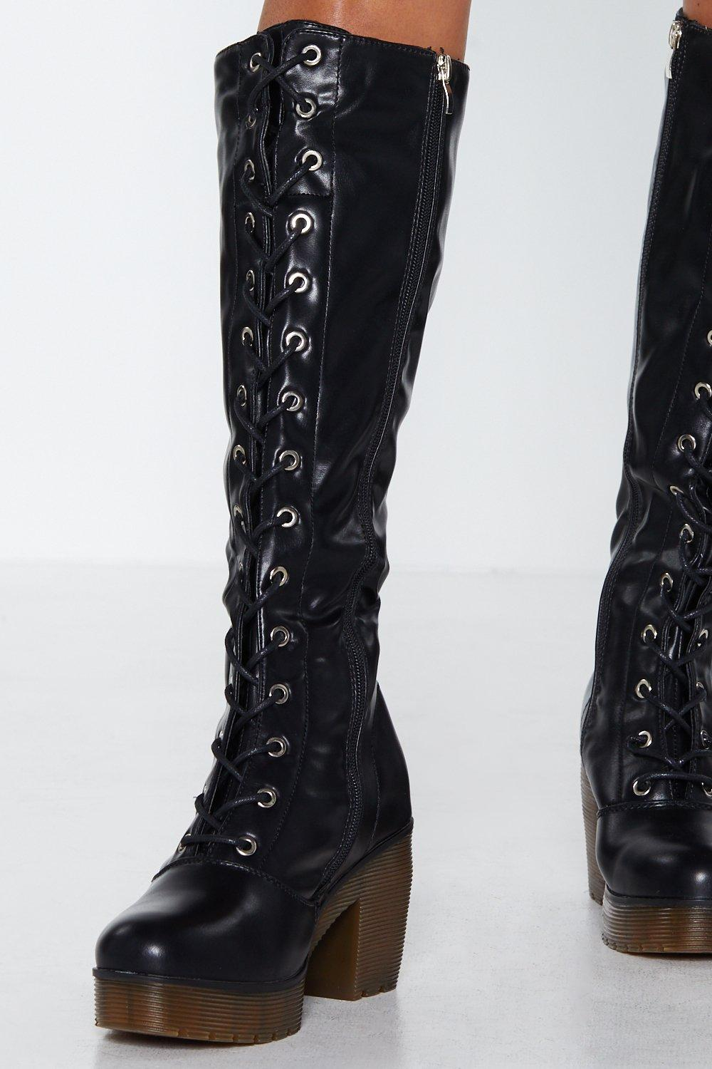 275920ef78d Superstition Knee-High Boot. Hover to zoom