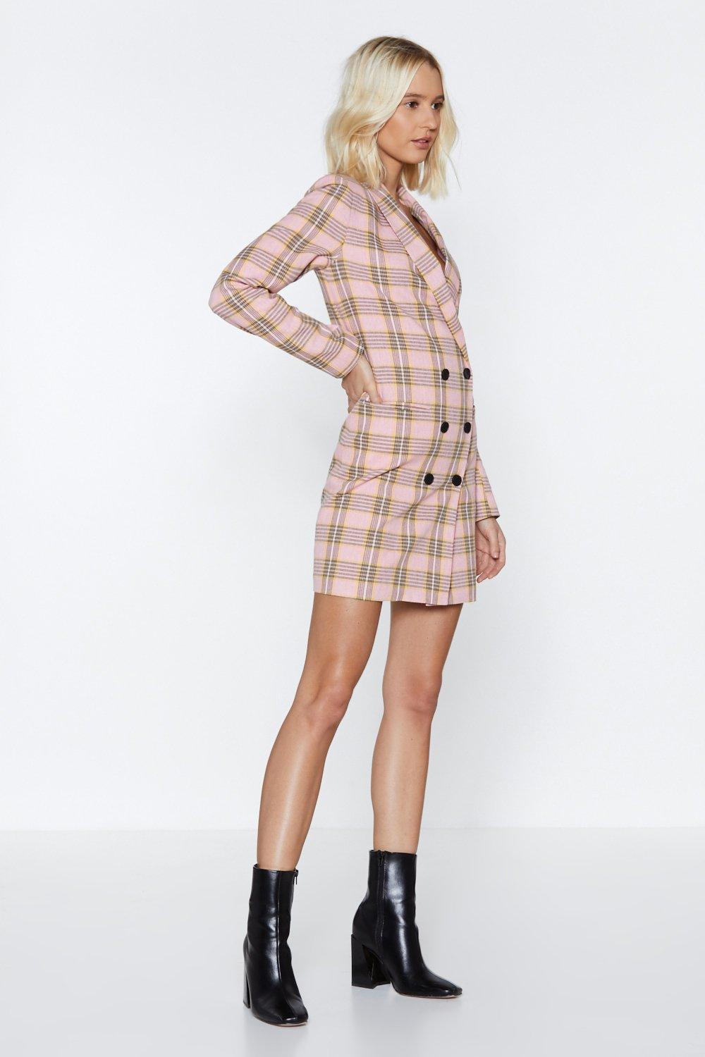 ef5abf46cf9e7 Plaid Decisions Blazer Dress | Shop Clothes at Nasty Gal!