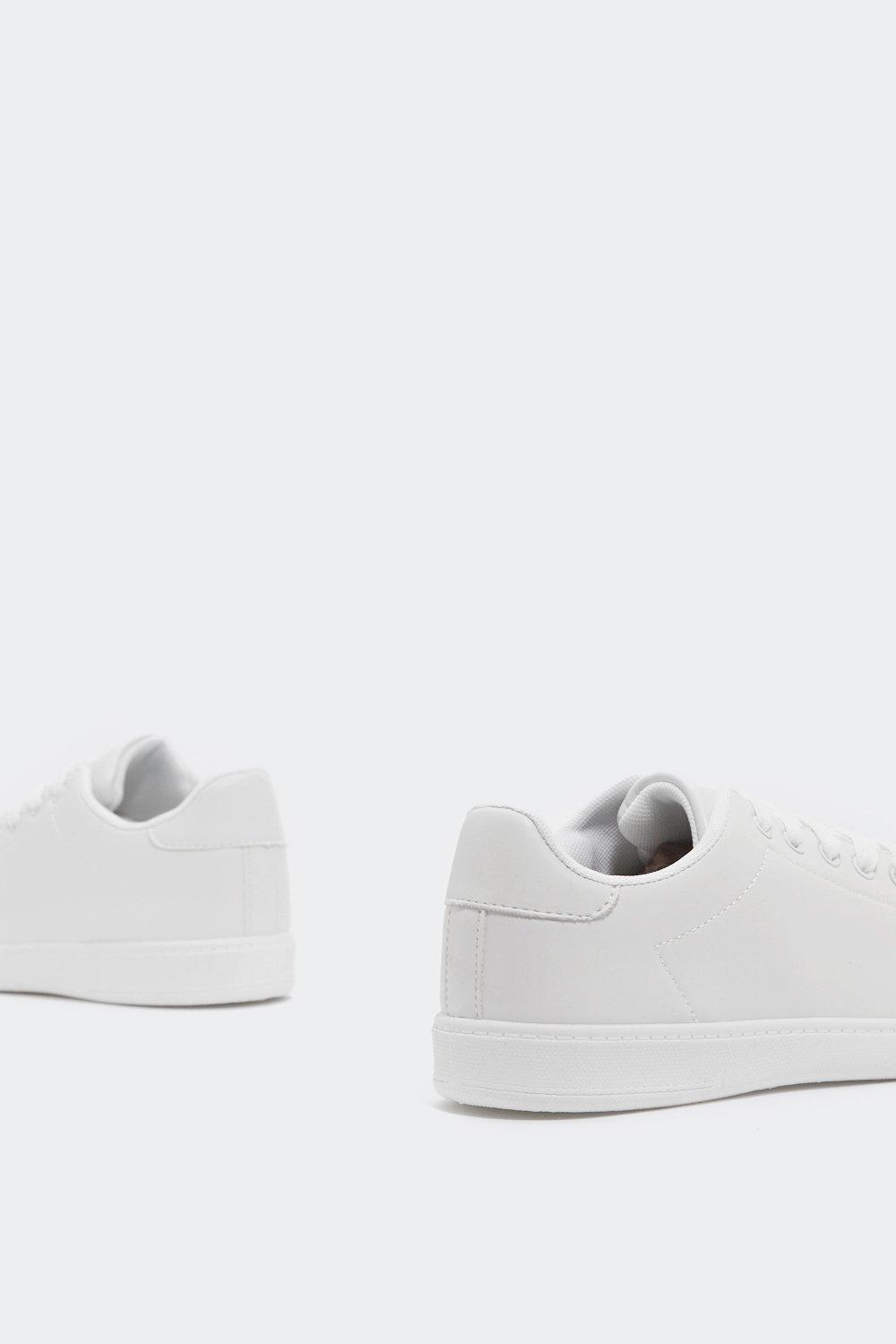 Clean Up Your Act Faux Leather Sneaker by Nasty Gal