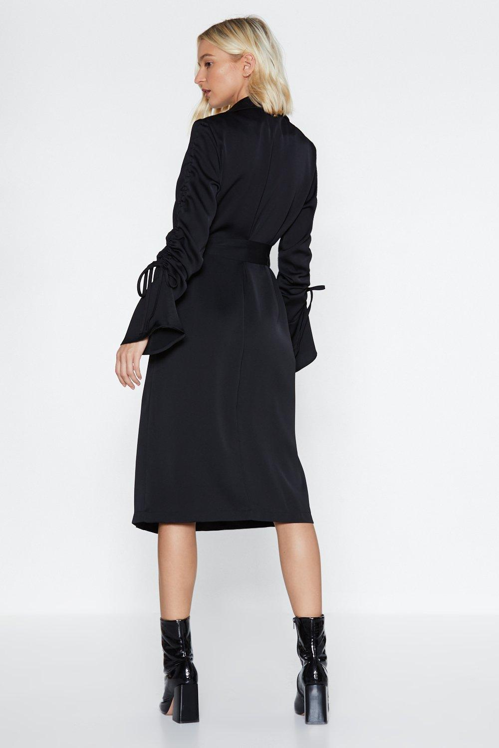 8b10f7bfdcf In Disguise Satin Blazer Dress. Hover to zoom