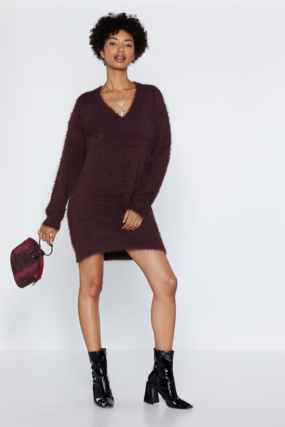 1024a44392 We Really Know Our Fluff Sweater Dress | Shop Clothes at Nasty Gal!