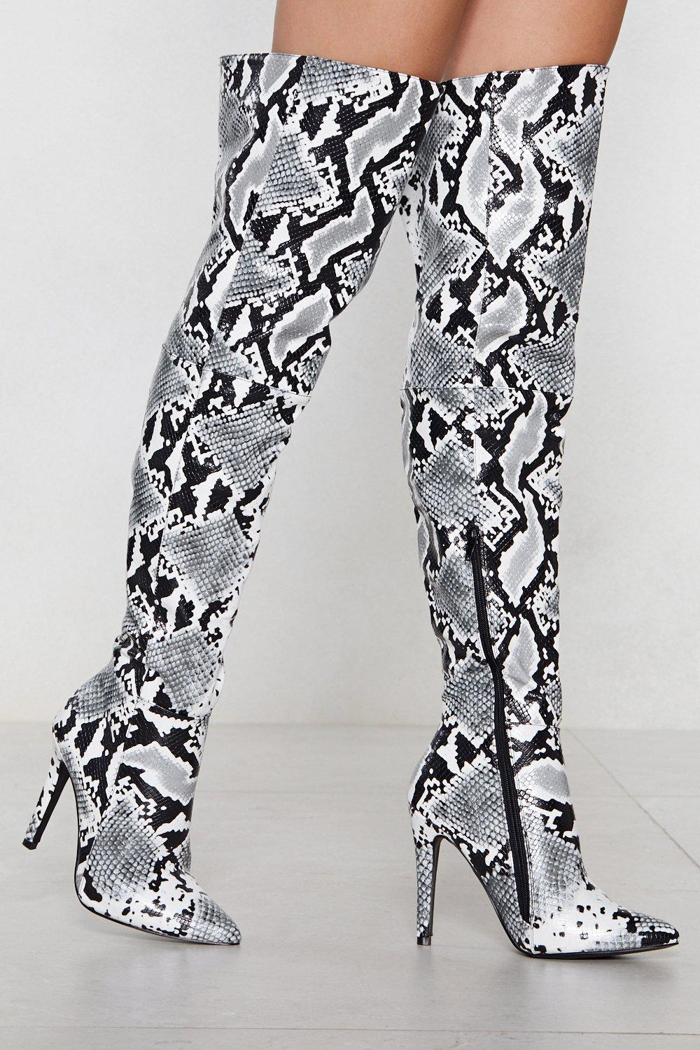 126366089897 Snake a Stand Over-the-Knee Boot | Shop Clothes at Nasty Gal!