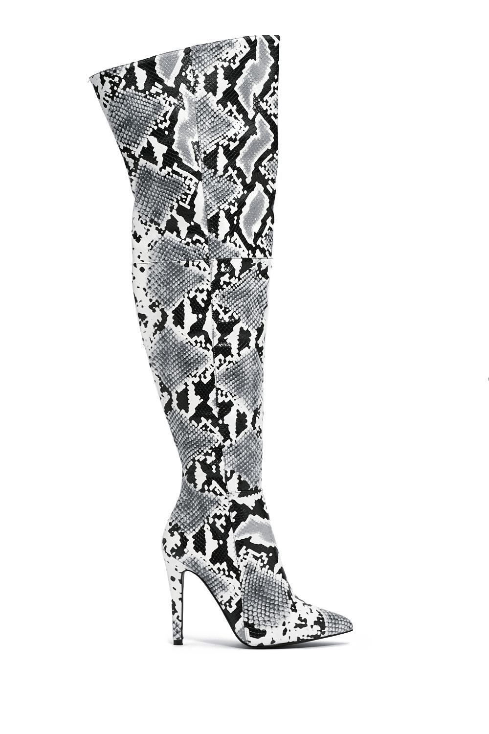 a17f52e6b1c Snake a Stand Over-the-Knee Boot