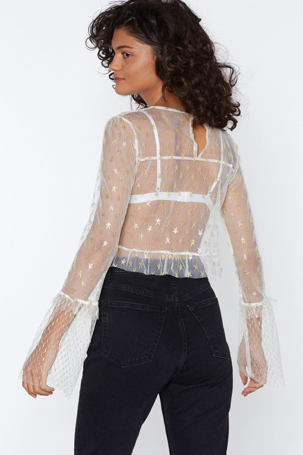 146b0d845f3 Mesh It Up Star Top