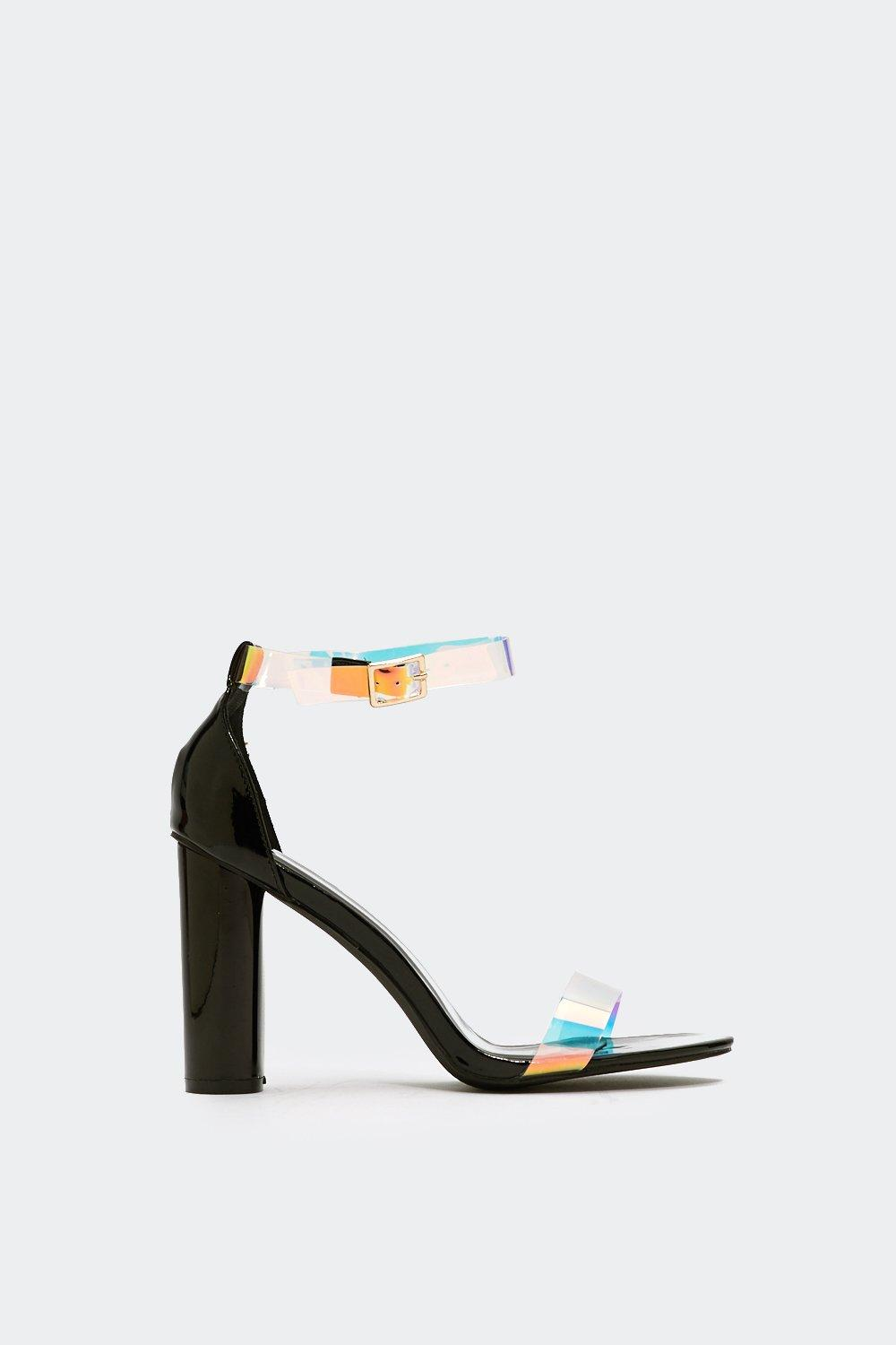 a956550c2c7 In Perspex-tive Holographic Heel