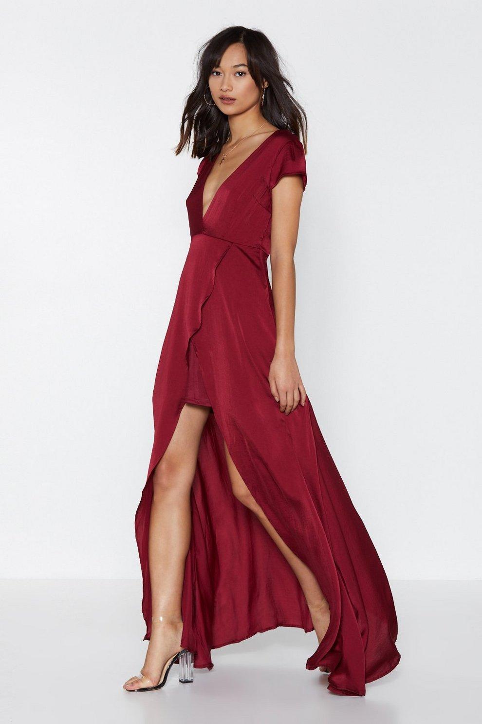 a4b7c855f2e8f False Move Satin Dress | Shop Clothes at Nasty Gal!