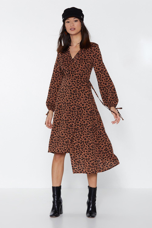 01b5eb32577c Copycat Leopard Wrap Dress   Shop Clothes at Nasty Gal!