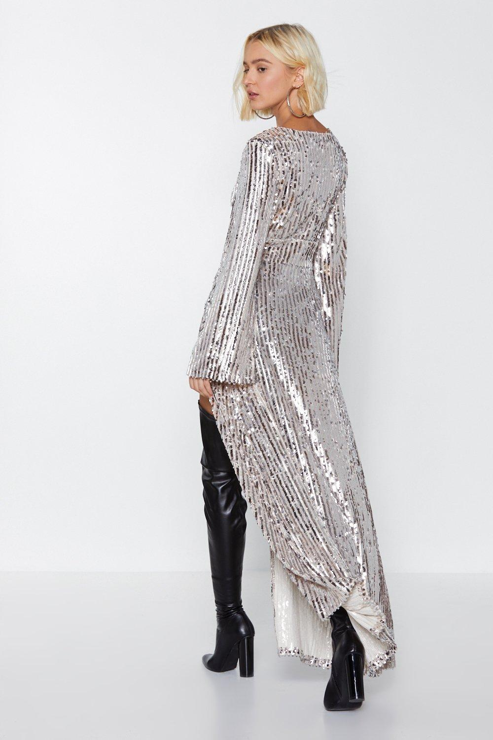 42ade60a51dbf Nasty Gal Studio Longline at the Bar Sequin Top
