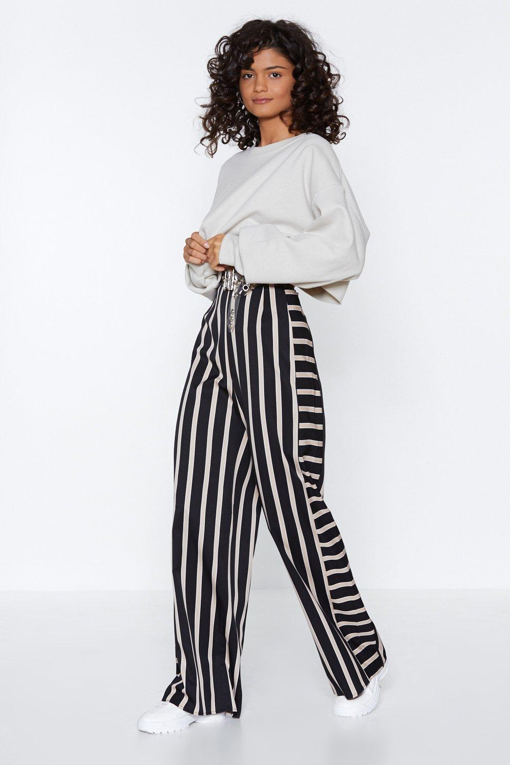 8e194bfd2cdf62 Got the Stripe Idea Wide-Leg Pants | Shop Clothes at Nasty Gal!
