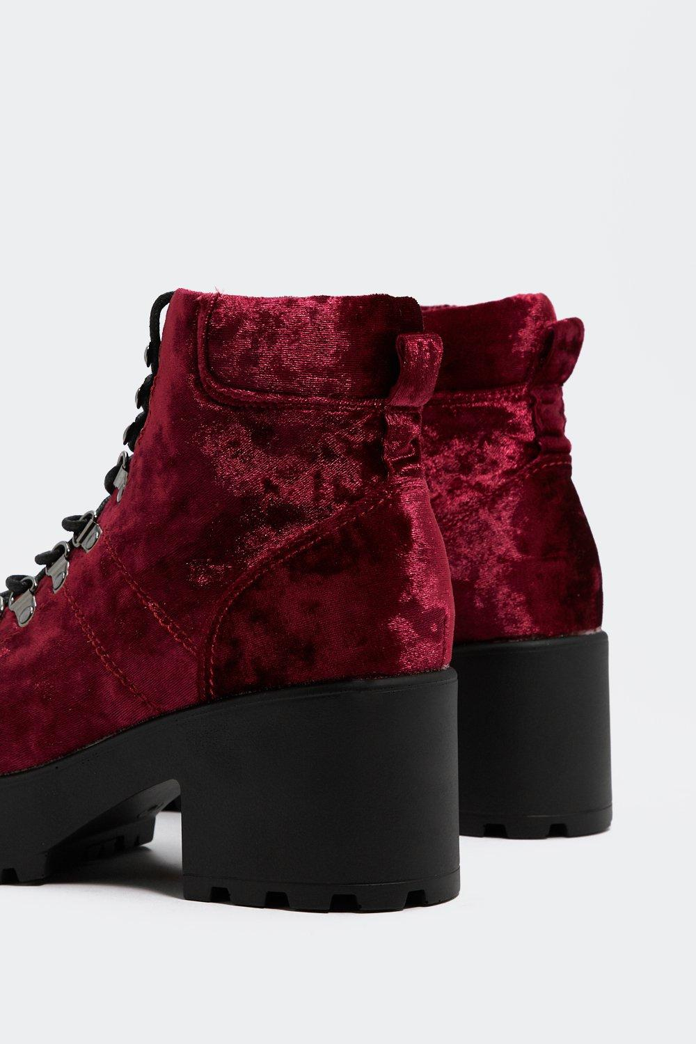 21c474fc3c63 Sole Crushing Velvet Boot | Shop Clothes at Nasty Gal!