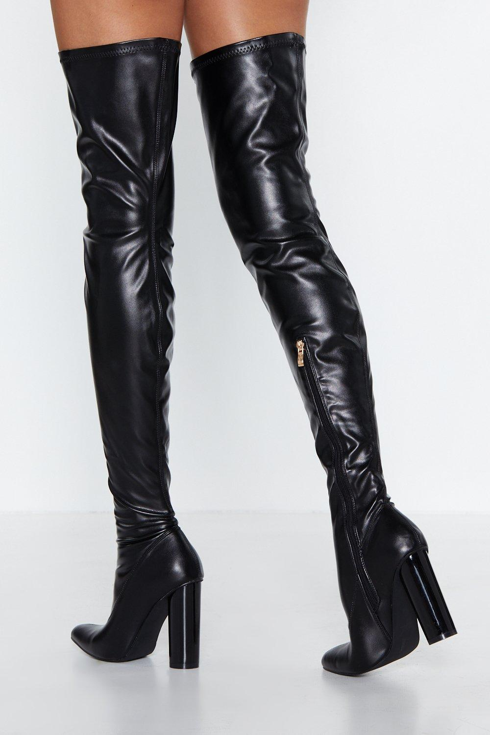 63b65c365f5 Cat Woman Forever Thigh-High Boot. Hover to zoom