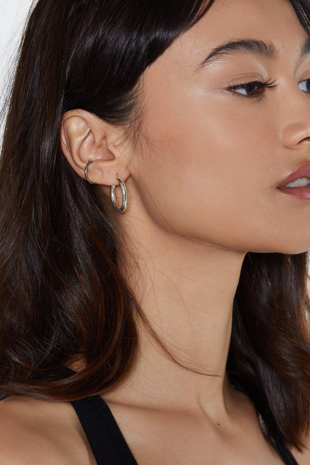Jump Through Hoops Tube Earrings by Nasty Gal