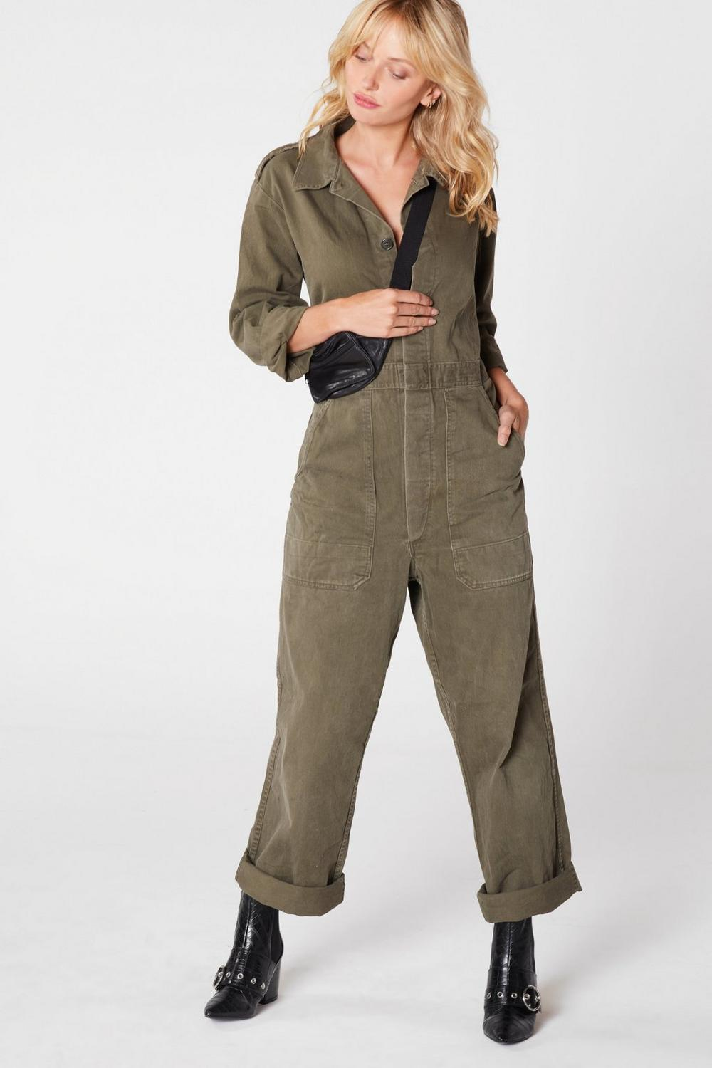 70a6372e3c2 After Party Vintage On the Job Utility Jumpsuit