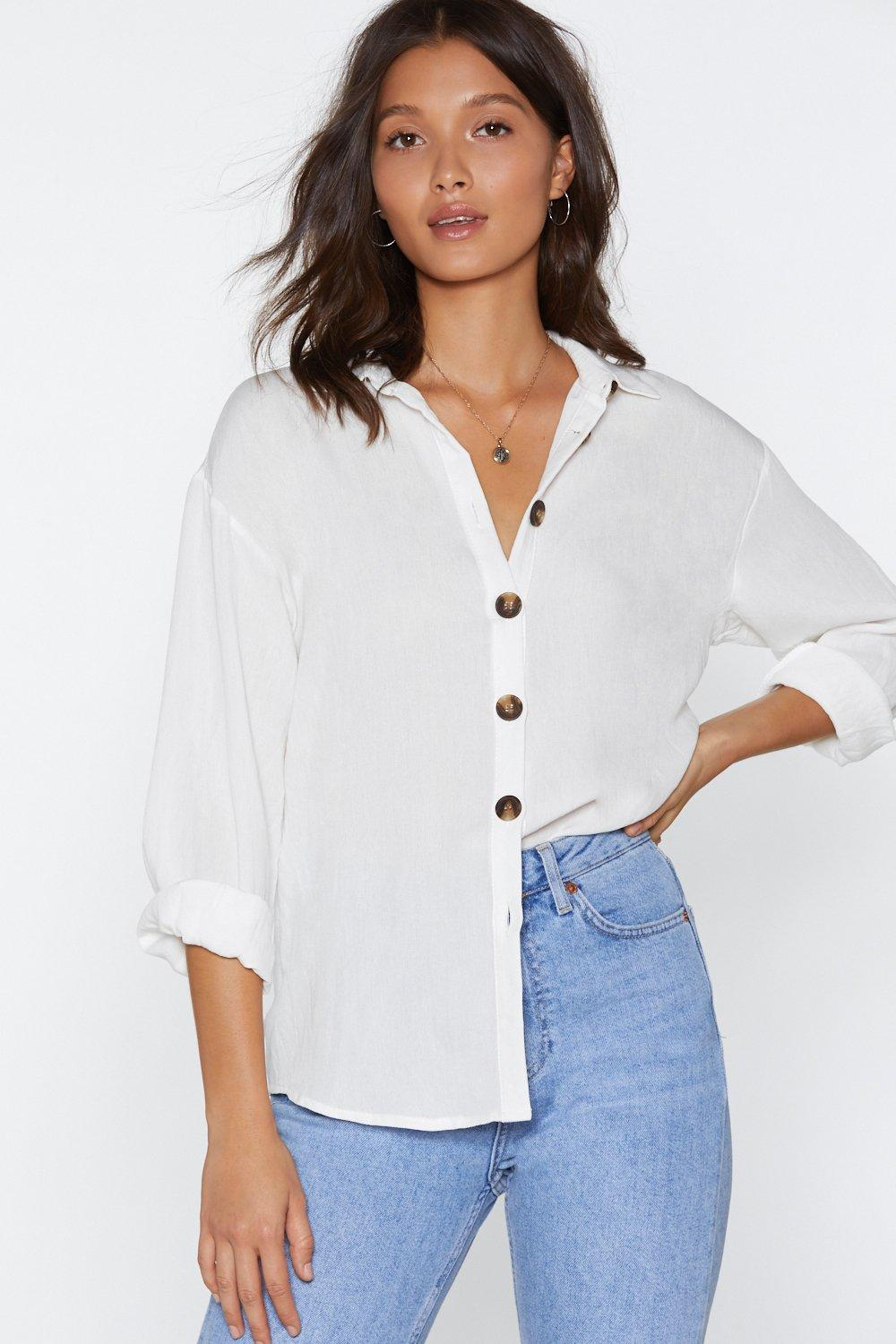 cda2d219b5 Relax Babe Button Shirt. Hover to zoom