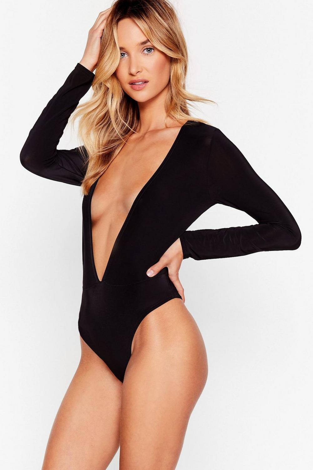 68ec522741 Truth V Known Plunging Bodysuit. Hover to zoom