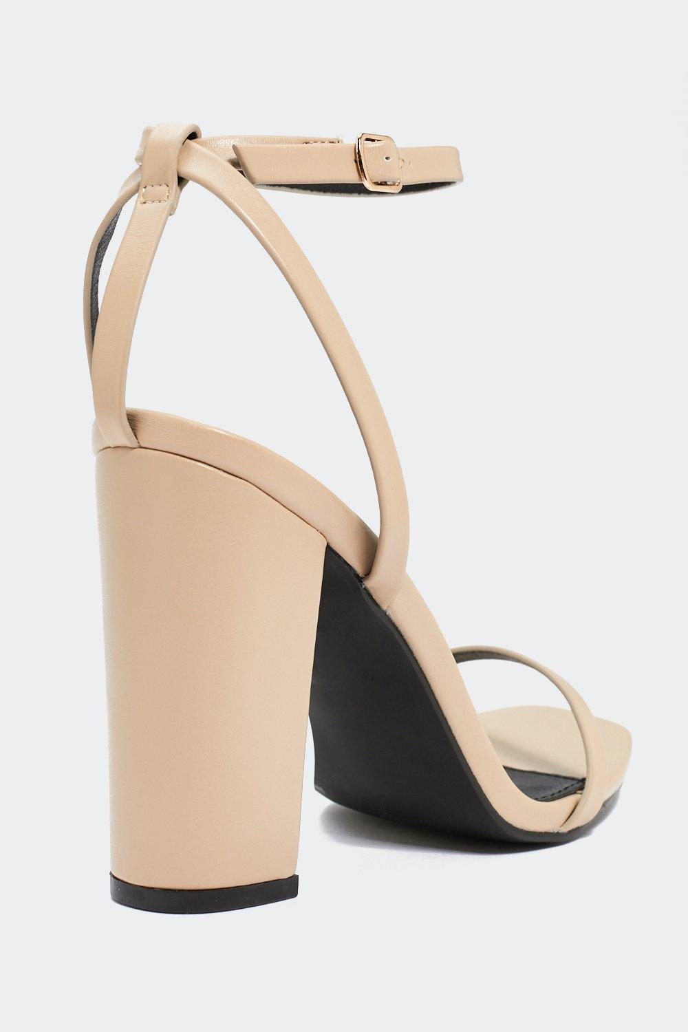 a951706a6bac Womens Nude Around the Block Heel. Hover to zoom