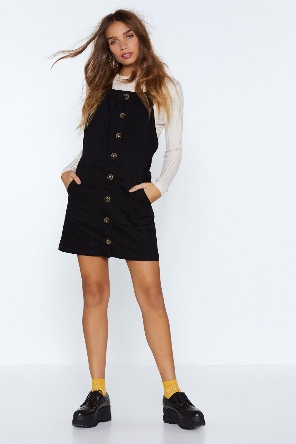 739d36f903d6 Hanging Button Your Every Word Pinafore Dress | Shop Clothes at ...
