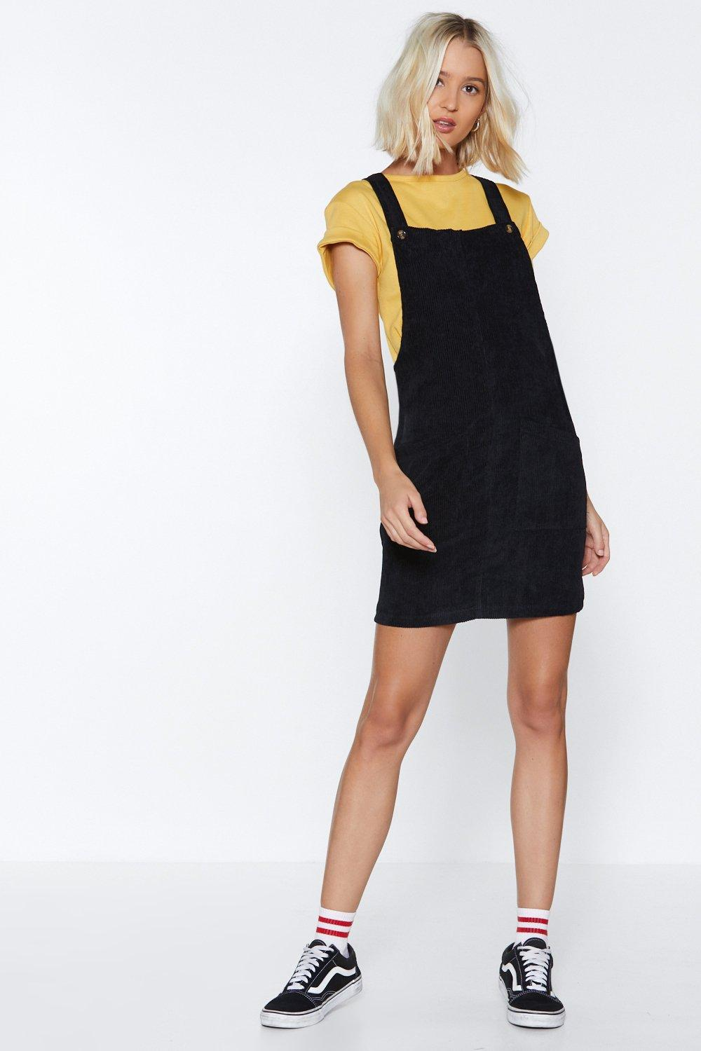 84fa044b0d8 Hitting All the Right Notes Cord Pinafore Dress