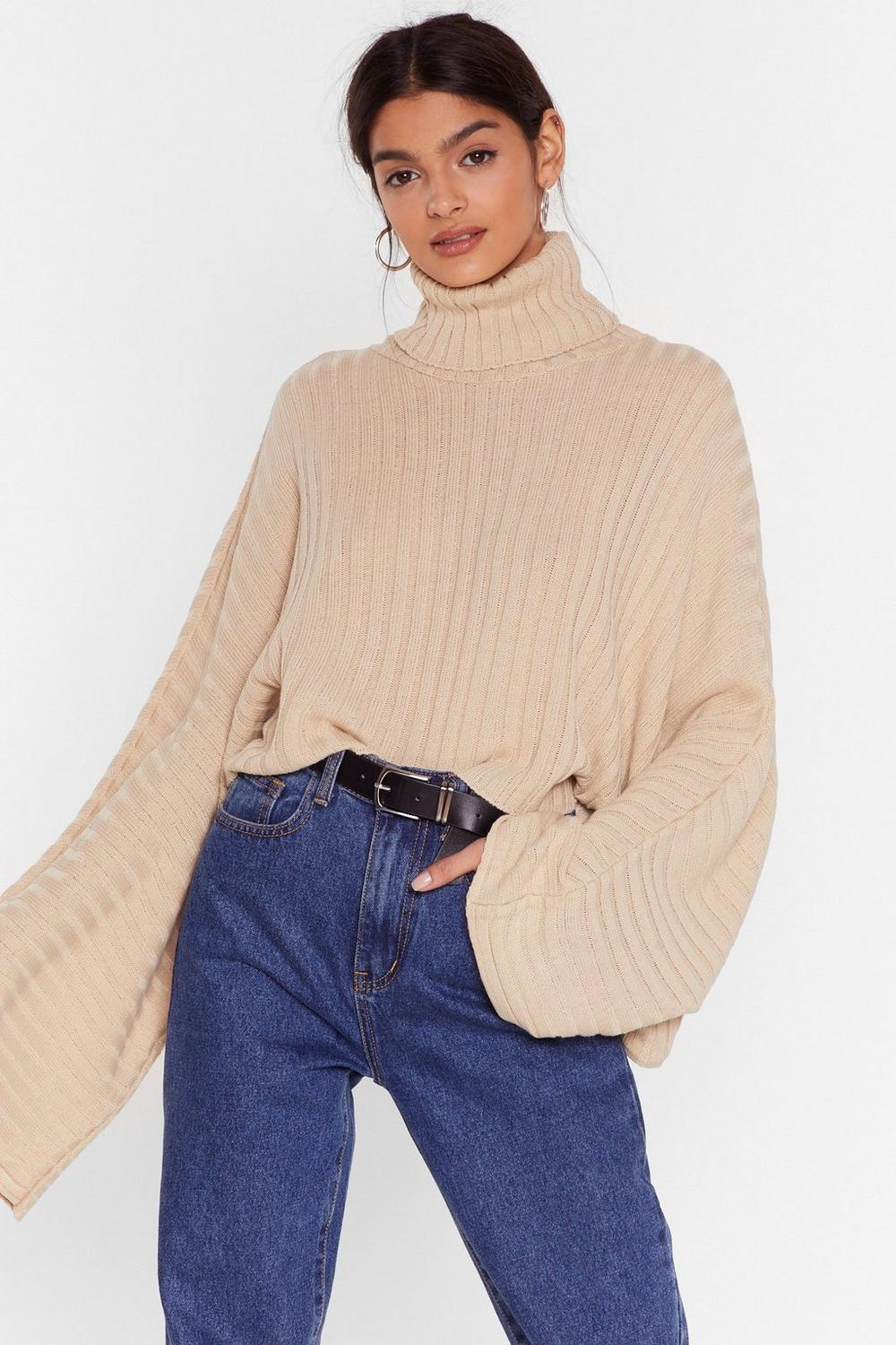 b5f305f711 Call Knit a Day Oversized Sweater