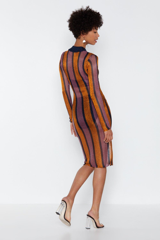 2e4e86c097 Womens Navy Bring Me the Disco Glitter Striped Dress