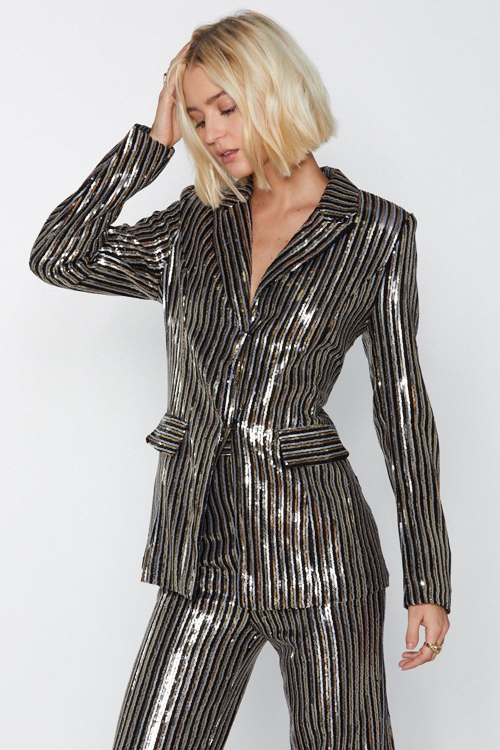Life On Mars Sequin Blazer by Nasty Gal