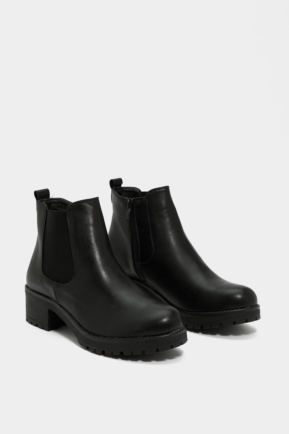 Follow In My Footsteps Chelsea Boot by Nasty Gal