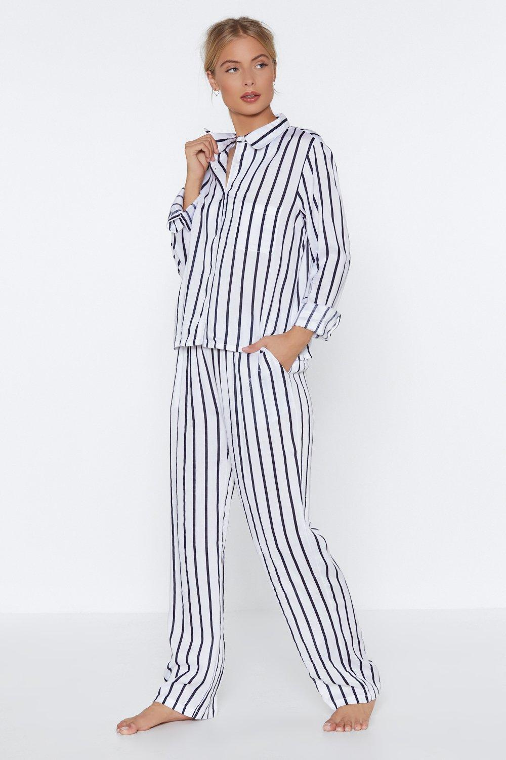 f9dd16326222 Dream Come True Striped Shirt and Pants Pajama Set
