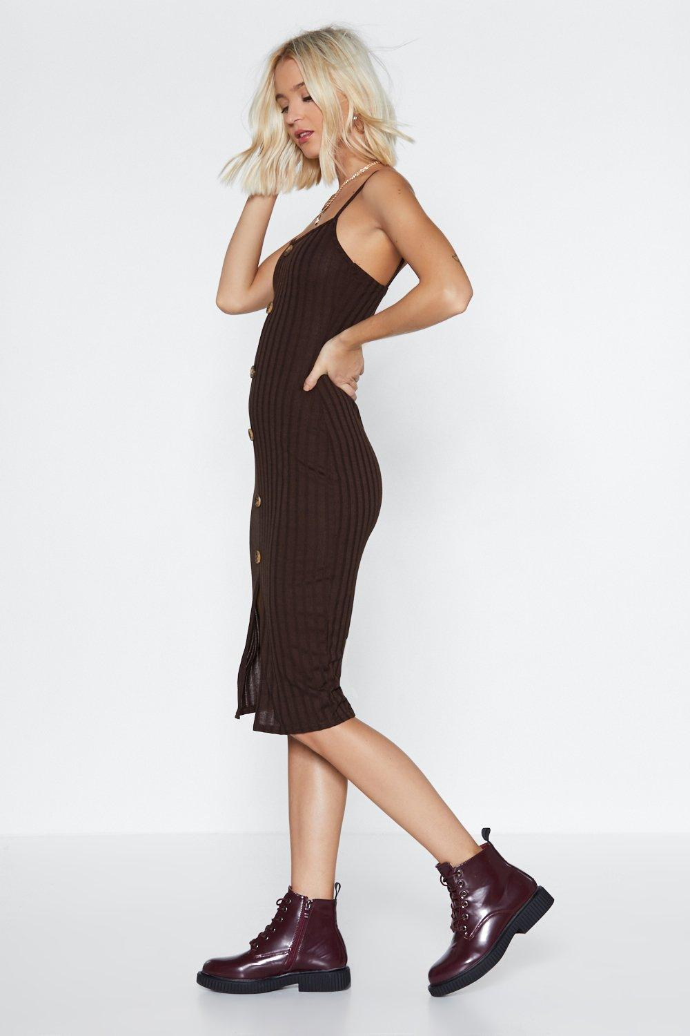 0e3140fccd20 Sweet Like Chocolate Midi Dress | Shop Clothes at Nasty Gal!