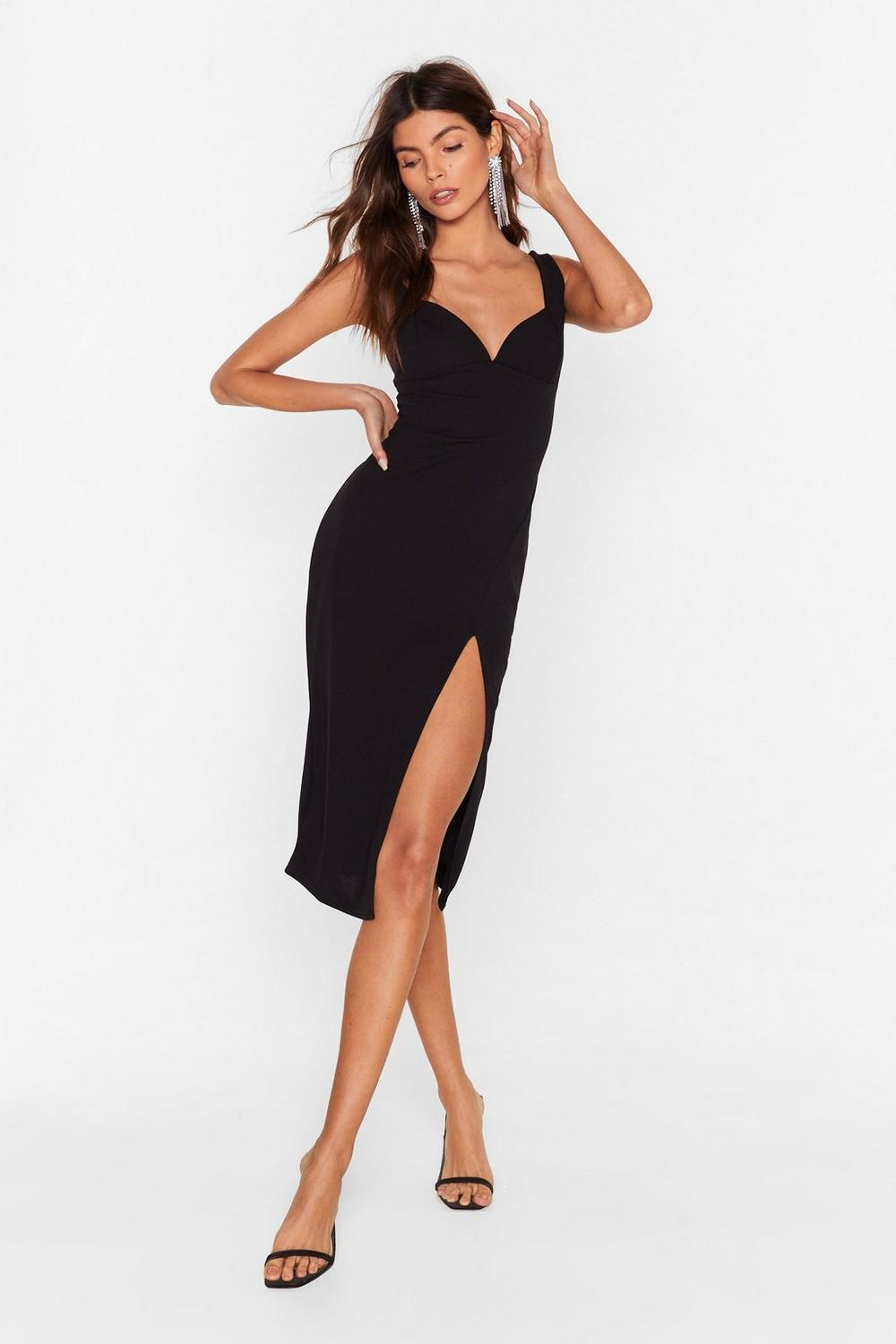 70bc1bef69eb Plunge Down Midi Dress