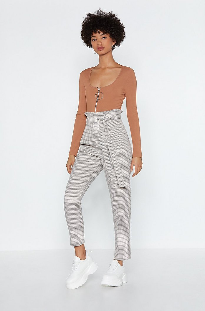 discount up to 60% provide plenty of aliexpress Check In Paperbag Trousers | Shop Clothes at Nasty Gal!