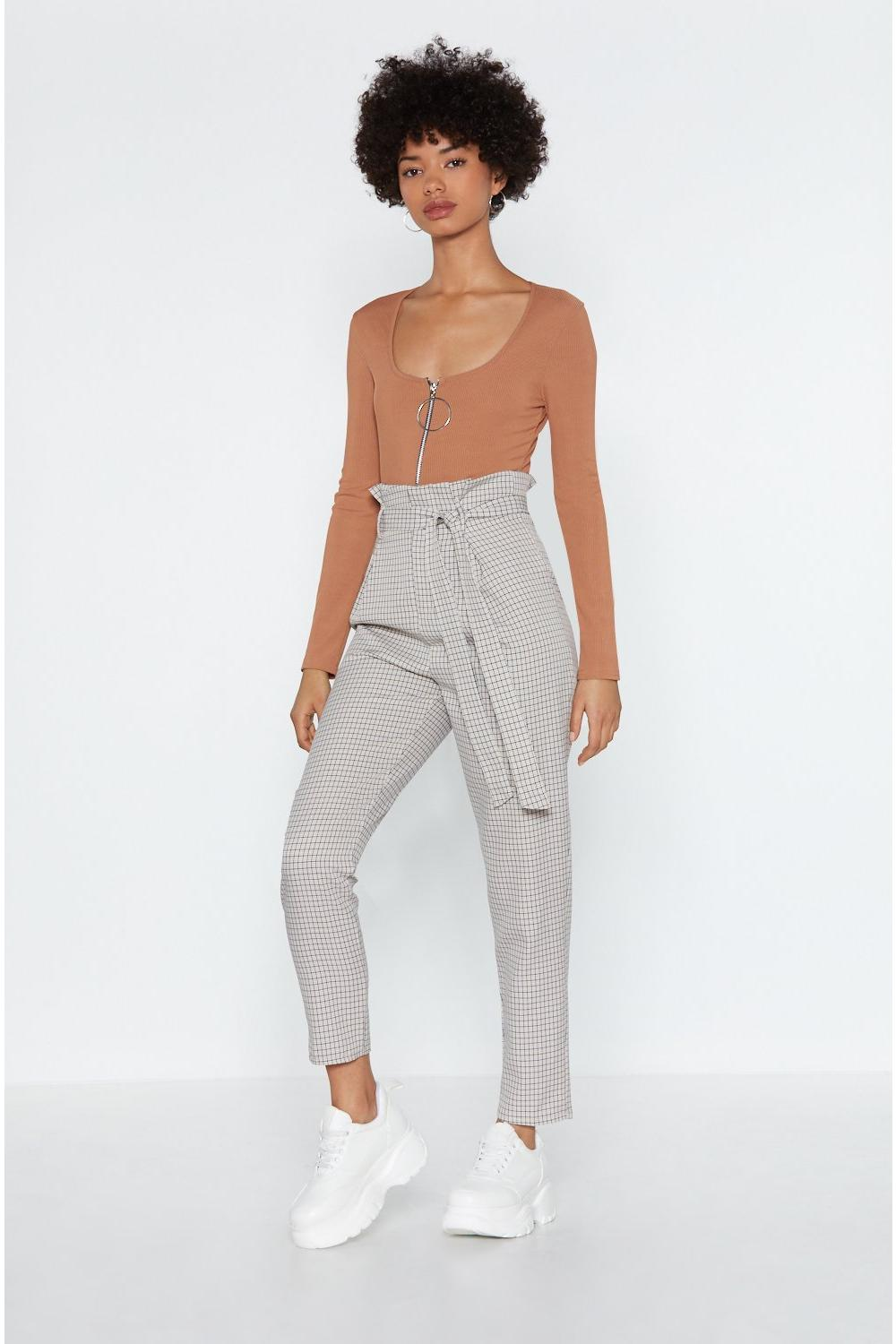 be5efebce7c3b0 Check In Paperbag Trousers | Shop Clothes at Nasty Gal!