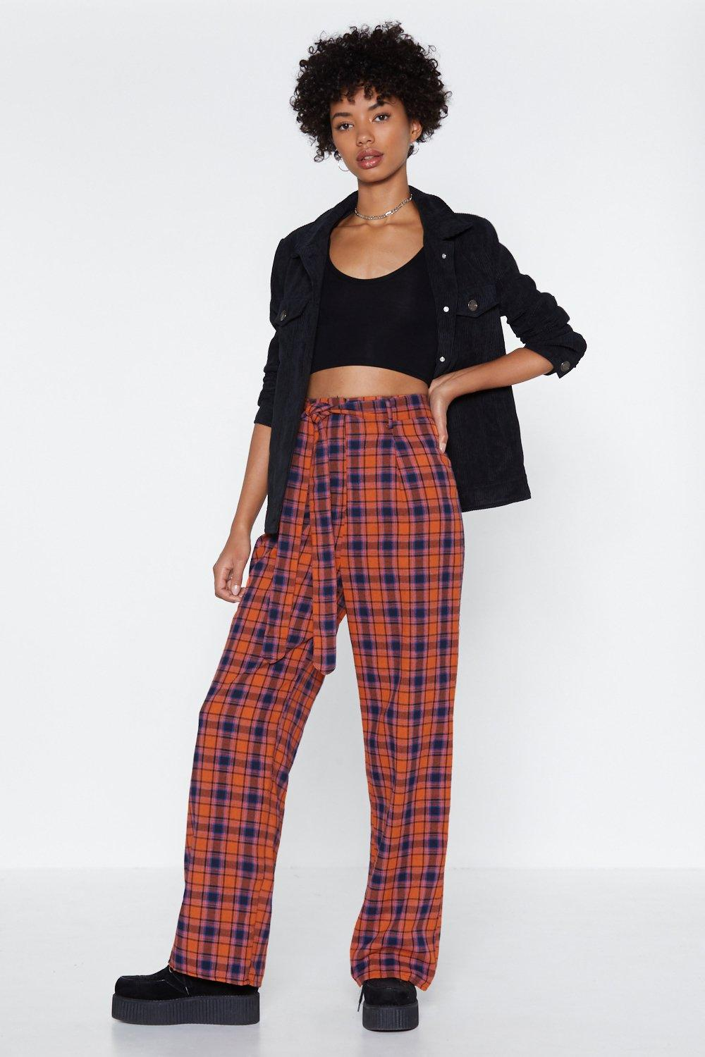 39cabbe02f411 What in the Check Wide-Leg Pants | Shop Clothes at Nasty Gal!