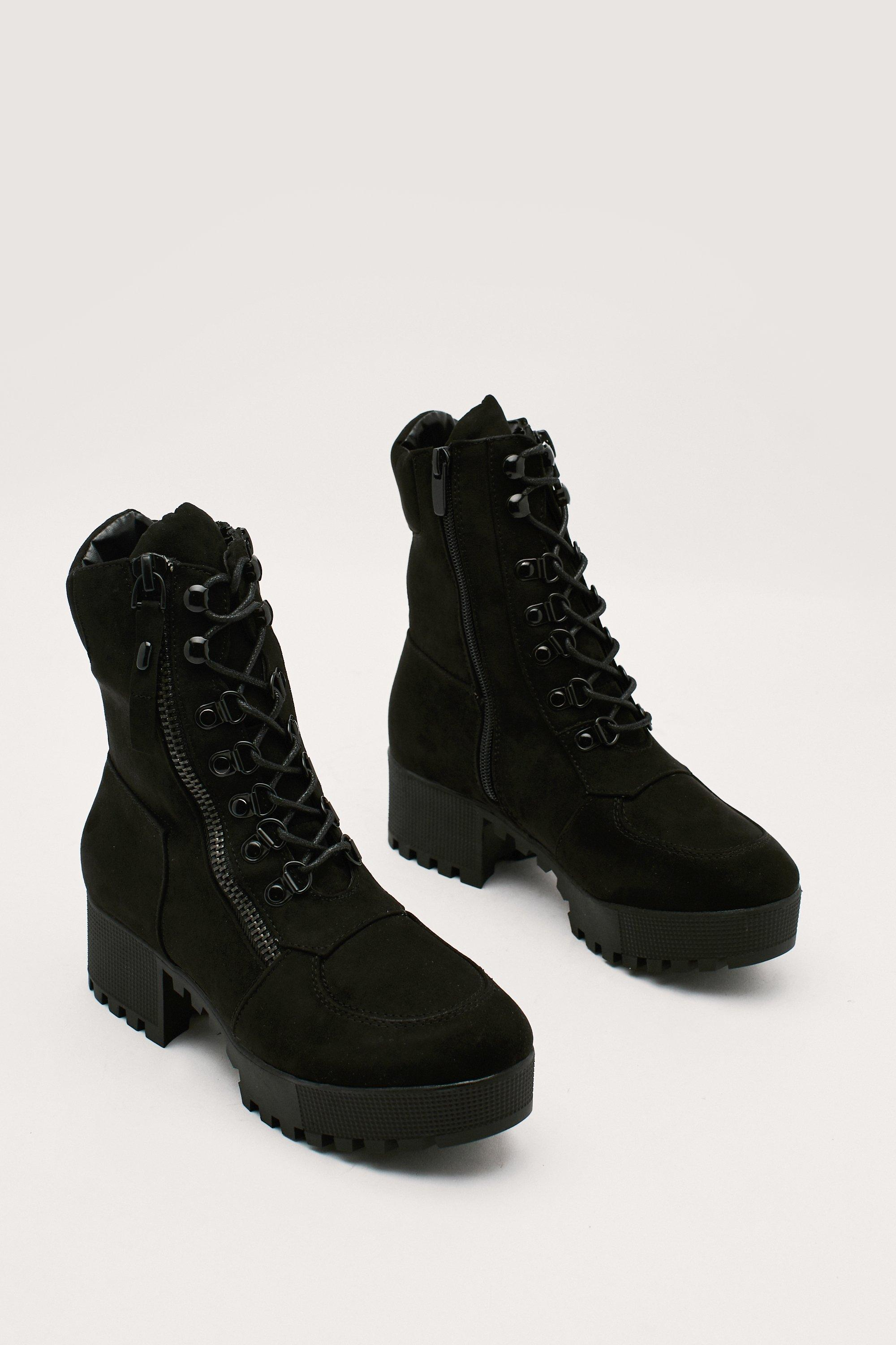 Block It Out Lace Up Boot by Nasty Gal