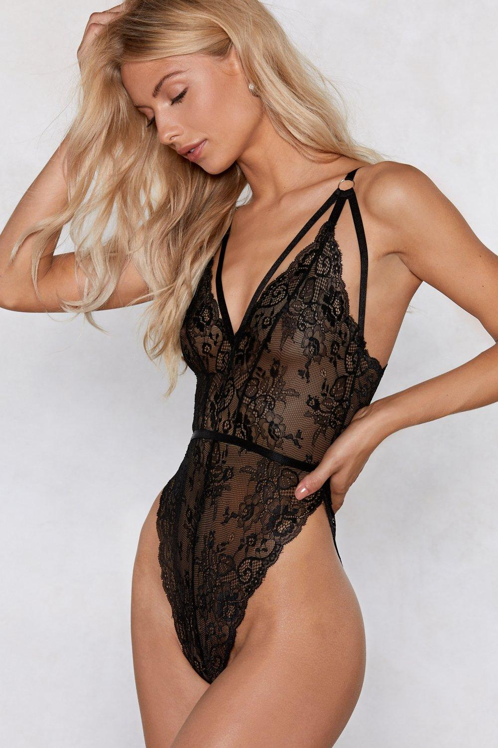 High And Mighty Lace Bodysuit by Nasty Gal