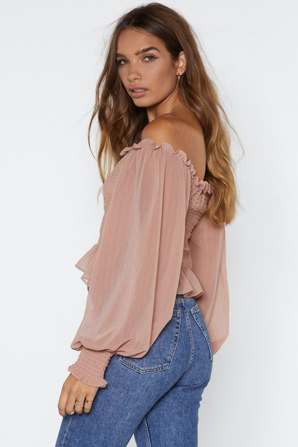 fbbf1690856 Who Said Romance is Dead Off-the-Shoulder Top