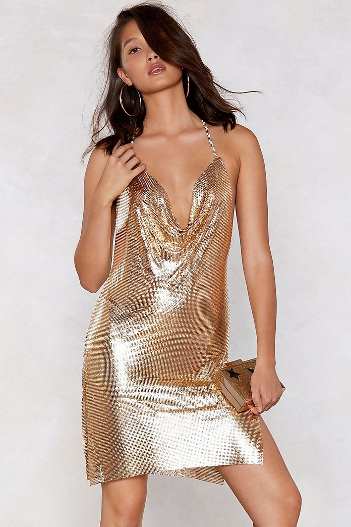 You've Got Chainmail Cowl Dress | Nasty Gal