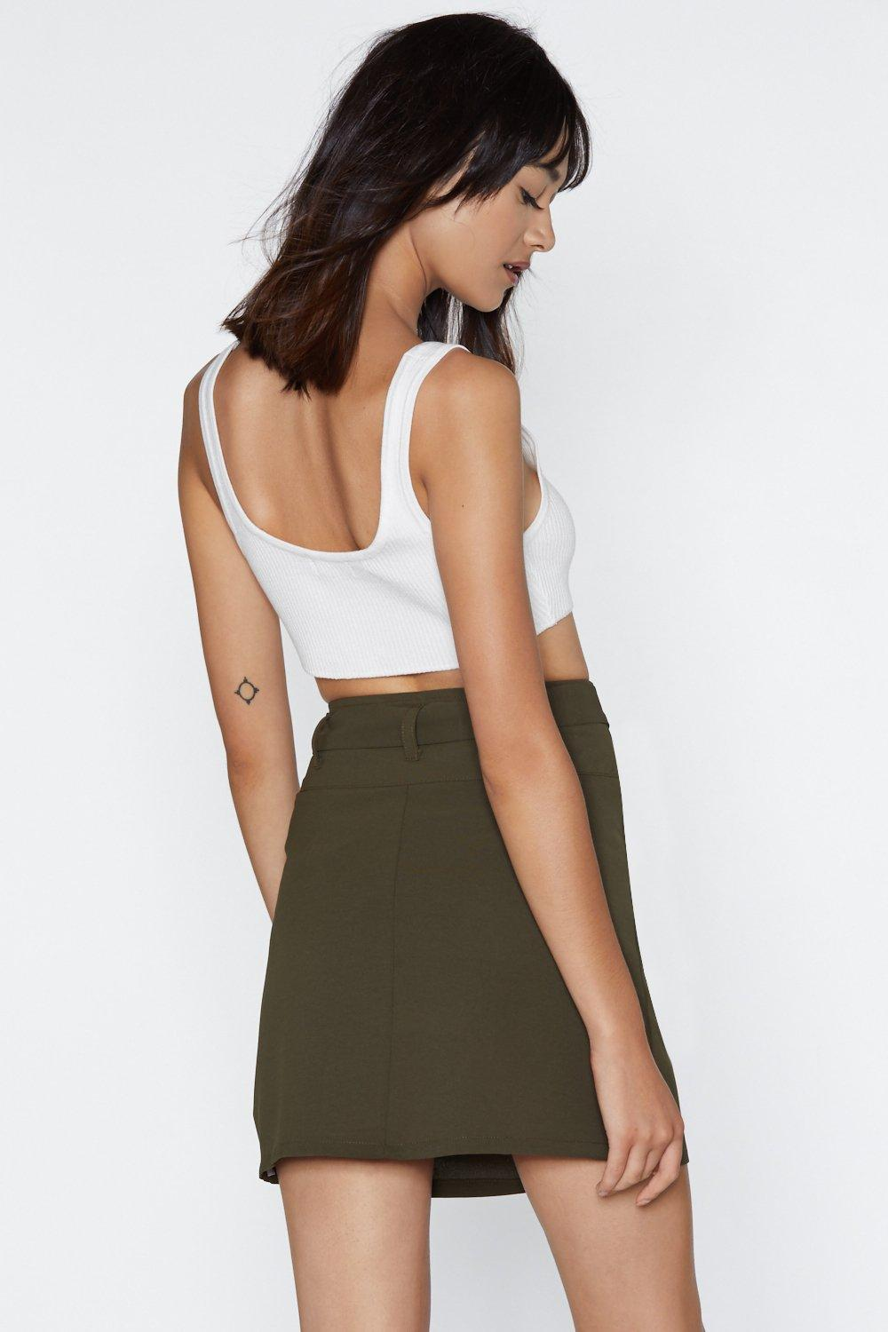 170b17455d1 Oh Tie There Mini Skirt