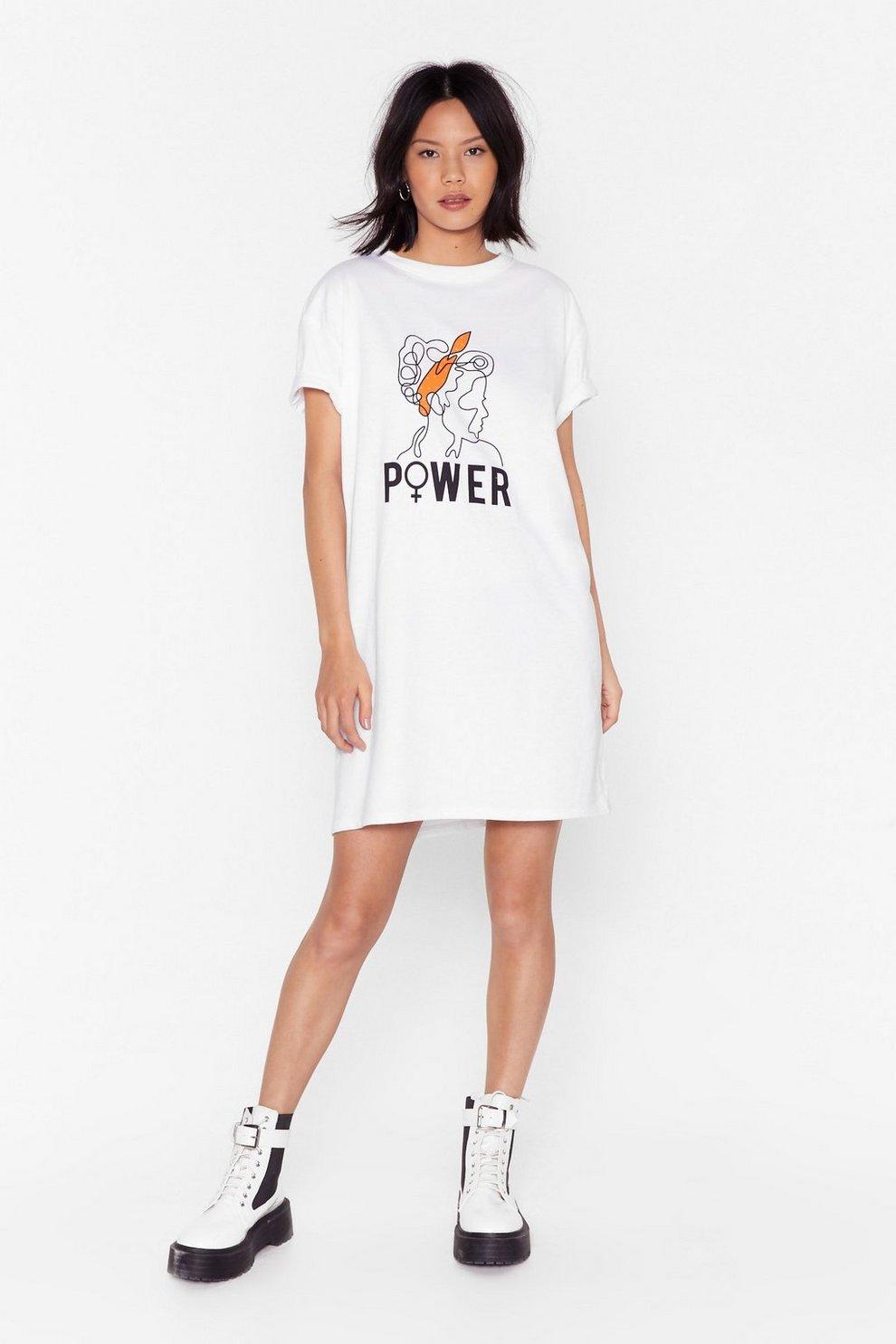 d2201bb016 Girl Power Tee Dress | Shop Clothes at Nasty Gal!