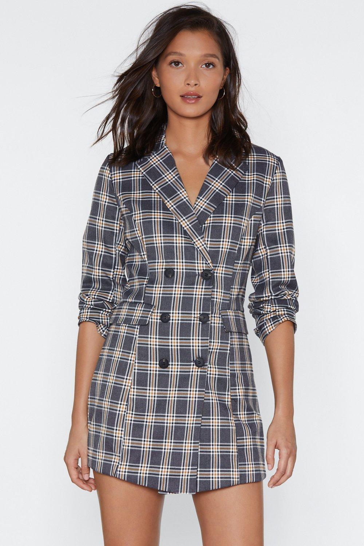 c9857a7308e1 Check Her Go Blazer Dress | Shop Clothes at Nasty Gal!