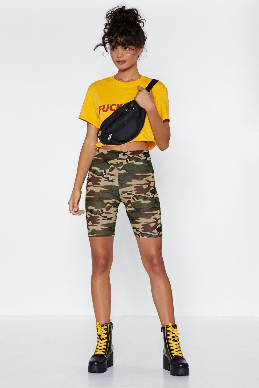 5441f2365308e Deal With It Camo Biker Shorts | Shop Clothes at Nasty Gal!