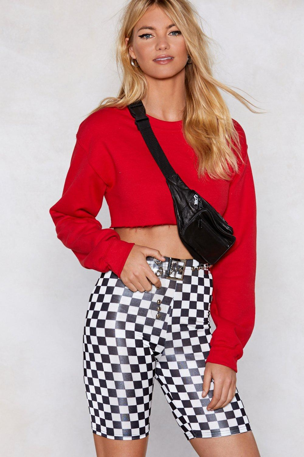 b57c8bca2a14a Are You on Checkerboard Biker Shorts | Shop Clothes at Nasty Gal!