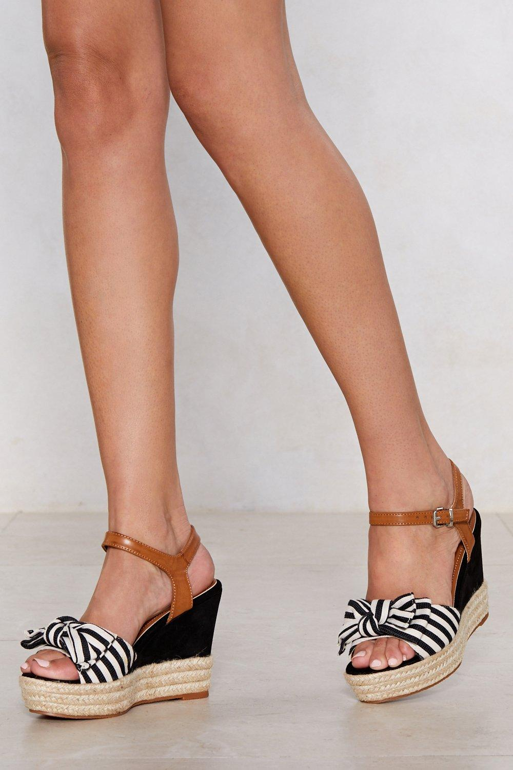 3ae27c2ac58 Bow Away Striped Wedge | Shop Clothes at Nasty Gal!