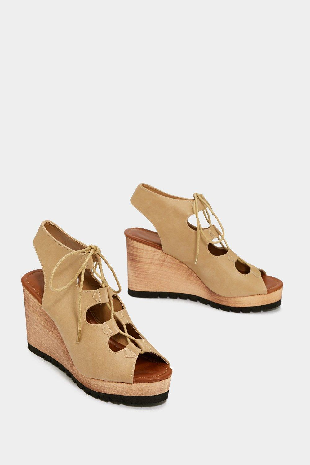 Lace-Up Your Bets Wedge Sandal sale for sale cheap sale looking for newest for sale clearance deals 7mVdn