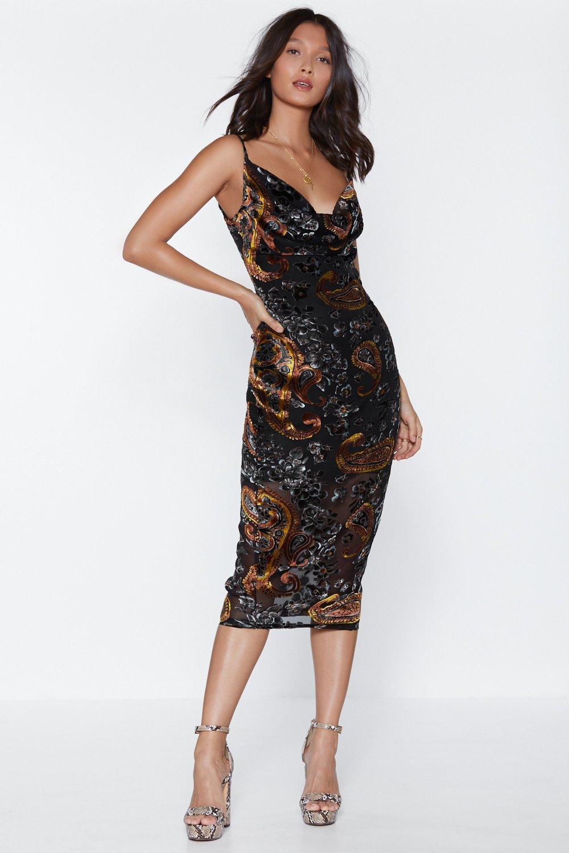 0563f7b1c31 Womens Black Go Your Own Way Midi Dress