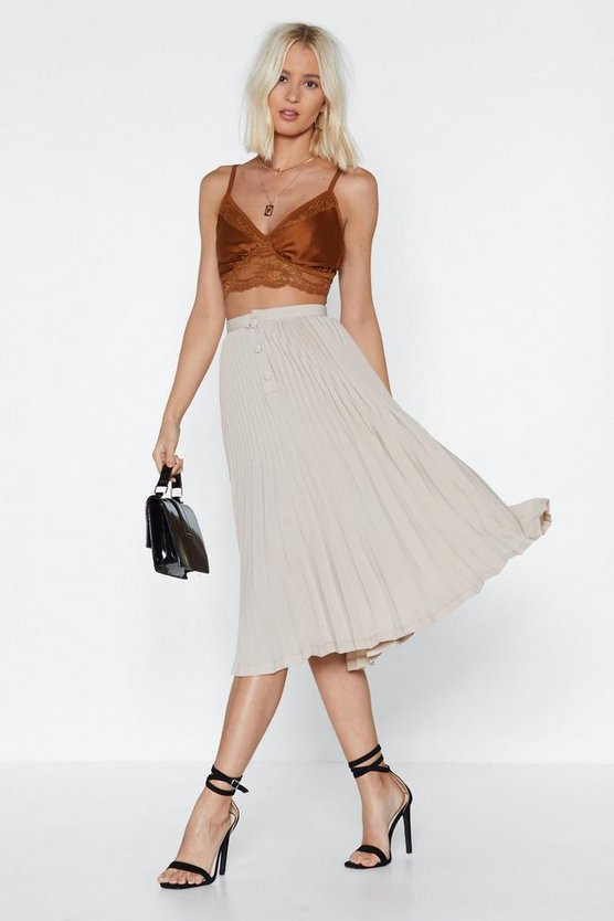 Pleats Please Midi Skirt by Nasty Gal